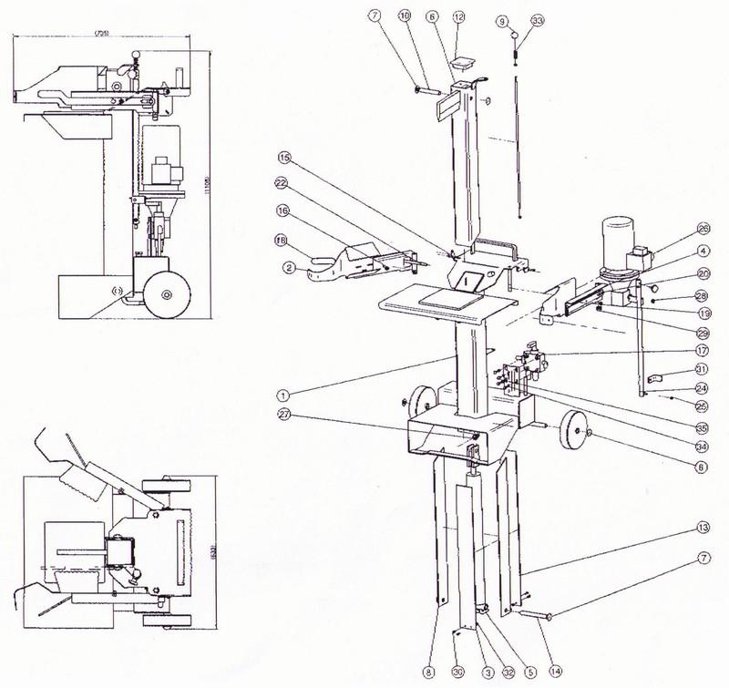 Holzspalter ersatzteile